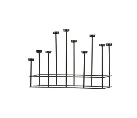 BePureHome Kerzenständer Surround schwarz Metall 40x58,5x17,5cm