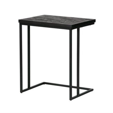BePureHome Beistelltisch Freigabe u-förmigen schwarzen Holz 55x45x35cm