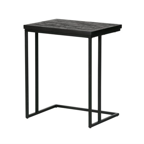 BePureHome Side table Sharing u-shape black wood 55x45x35cm