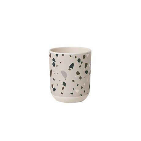 Ferm Living Cup Terrazzo grau Bambus Ø7,5x9cm