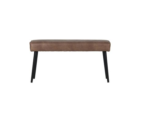 BePureHome Dining couch Revolution cream brown leather 51x100x36cm