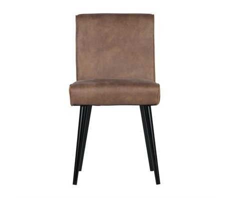 BePureHome Dining chair Revolution cream brown leather 84x44x52cm