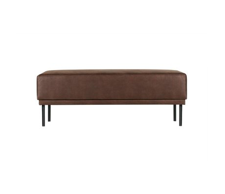 BePureHome Pouf Revolution chocolate brown leather 41x126x60cm
