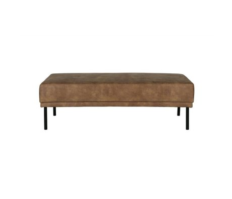 BePureHome Pouf Revolution cream brown leather 41x126x60cm