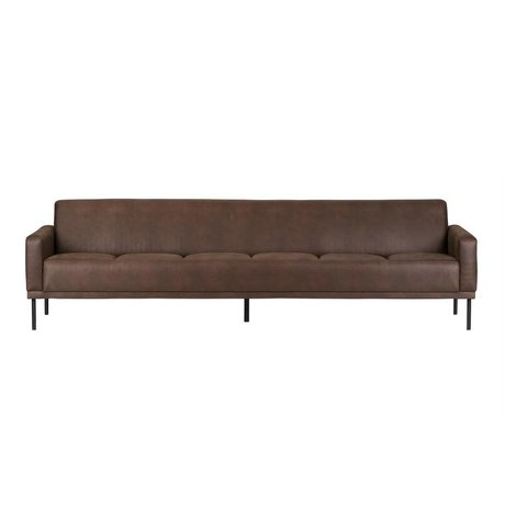 BePureHome Bank Revolution 3 places 76x276x89cm en cuir brun chocolat
