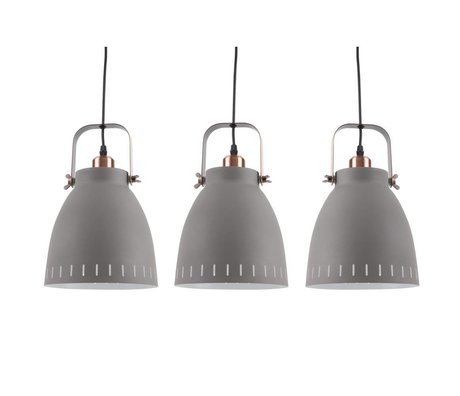 Leitmotiv Hanglamp Mingle Triplet gray metal Ø16,5x72x55cm