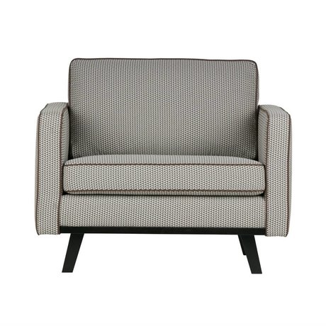 BePureHome Fauteuil bois rebelle polyester brun 85x105x86cm