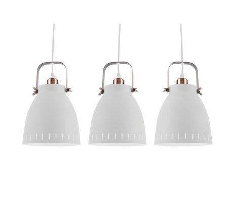 Leitmotiv Lampe à suspension se mêlent Ø16,5x72x55cm en métal blanc Triplet