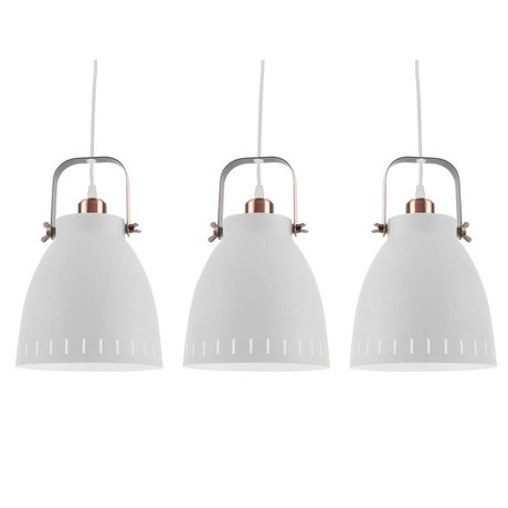 Leitmotiv Hanging lamp Mingle Triplet white metal Ø16,5x72x55cm