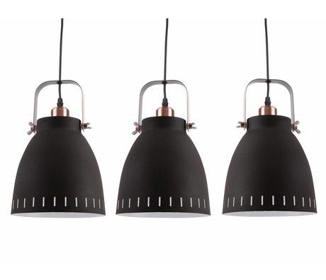 Leitmotiv Hanglamp Mingle Triplet zwart metaal Ø16,5x72x55cm
