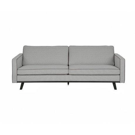 BePureHome 3-zits bank Rebel grijs polyester hout 230x86x85cm