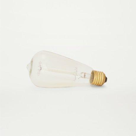 Frama Ampoule LED lumières ateltier goutte de verre transparent de 12 x 6,5 cm