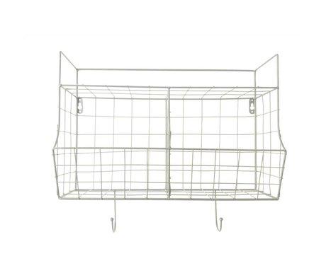 pt, armoire de cuisine en métal blanc 24x15,5x46,5cm