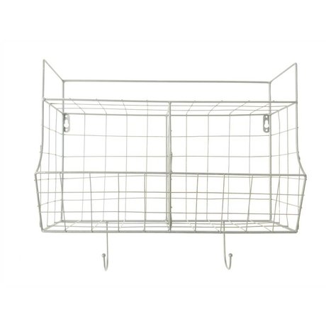 pt, Küche Rack weiß Metall 24x15,5x46,5cm