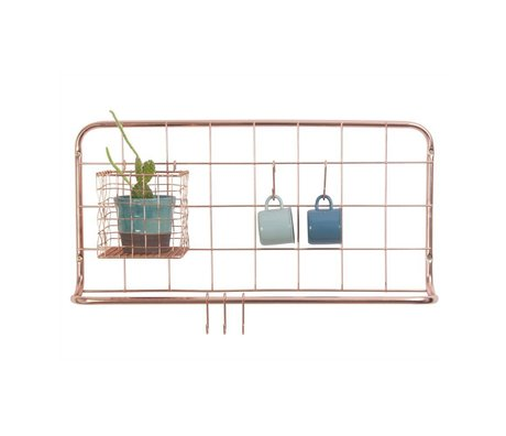 pt, Kitchen rack copper iron 60x30x5cm