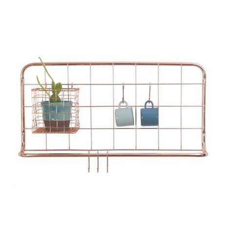 pt, Kupfer Eisen Küchenregal 60x30x5cm
