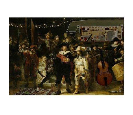 Arty Shock Peinture Rembrandt - Le Nightwatch M multicolore Plexiglas 80x120cm