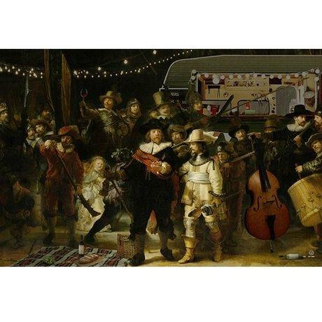Arty Shock Malerei Rembrandt - die nightwatchman L Mehrfarben Plexiglas 100x150cm
