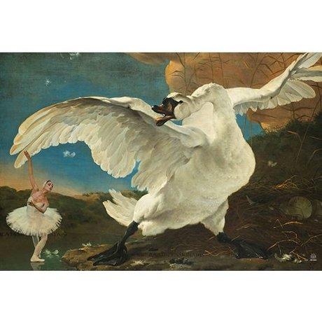 Arty Shock Jan Asselijn Malerei - Gefährdete Swan M Mehrfarben Plexiglas 80x120cm