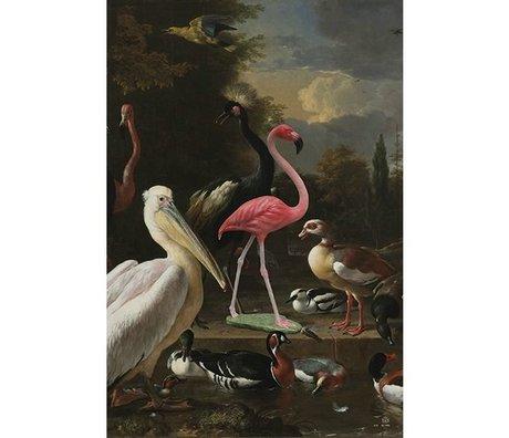 Arty Shock Malerei Melchior d'Hondecoeter - die schwebende Feder XL mehrfarbige Plexiglas 150x225cm