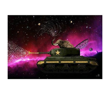 Arty Shock Malerei Friedensblume M Mehrfarben Plexiglas 120x80cm