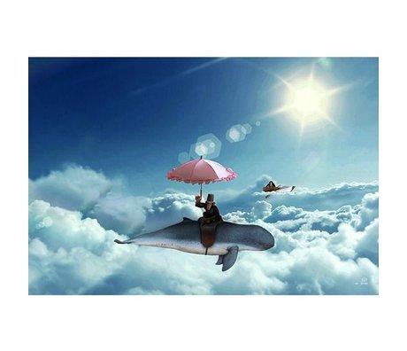 Arty Shock Peinture au-dessus des nuages de la 90x60cm plexiglass multicolore