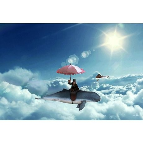 Arty Shock Painting Above the clouds S multicolor plexiglas 90x60cm