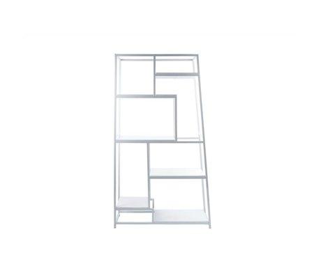 Leitmotiv Bücherregal weiß Stahl 178x102x33cm