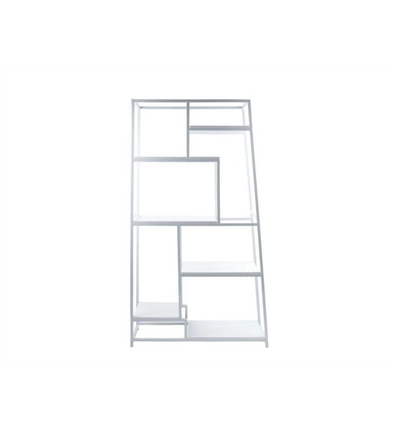 Leitmotiv Boekenkast wit staal 178x102x33cm - wonenmetlef.nl