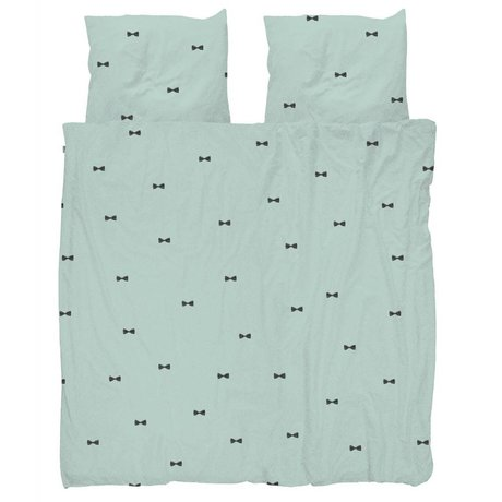Snurk Beddengoed Duvet Bow Tie Bleu 260x200 / 220 comprenant deux taies d'oreiller 60x70cm