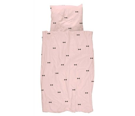 Snurk Beddengoed Housse de couette rose Bow Tie 140x200 / 220 incl taie 60x70cm