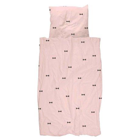 Snurk Beddengoed Dekbedovertrek Bow Tie Pink 140x200/220 incl kussensloop 60x70cm