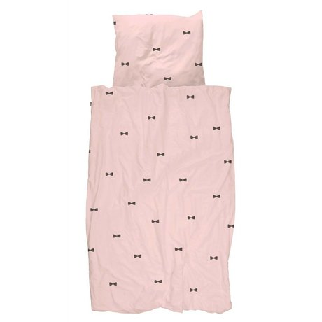 Snurk Beddengoed Duvet Pink Bow Tie 140x200 / 220 inkl pillowcase 60x70cm