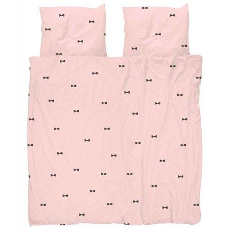 Snurk Beddengoed Dekbedovertrek Bow Tie Pink 240x200/220 incl 2 kussenslopen 60x70cm