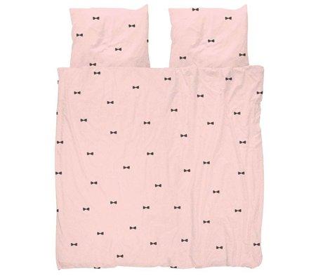 Snurk Beddengoed Dekbedovertrek Bow Tie Pink 260x200/220 incl 2 kussenslopen 60x70cm
