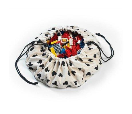 Play & Go Opbergzak/speelkleed Mini Mickey multicolour katoen Ø40cm