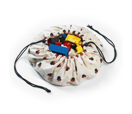 Play & Go Opbergzak/speelkleed Mini Minnie multicolour katoen Ø40cm