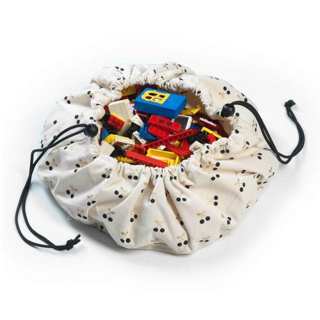 Play & Go Opbergzak/speelkleed Mini Cherry Gold multicolour katoen Ø40cm