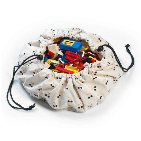 Play & Go Storage Bag / Toy Mini Cherry Gold Multicolor Cotton Ø40cm