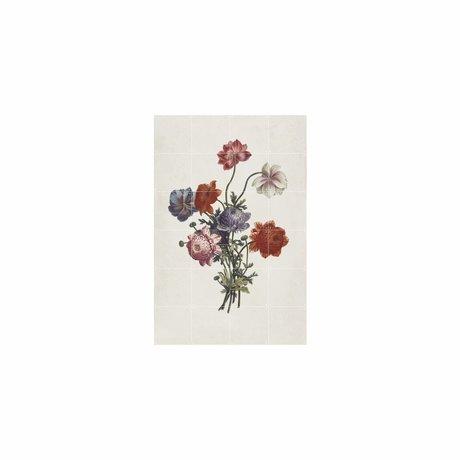 IXXI Wanddekoration Bouquet von Anemonen Mehrfarbenpapier S 80x120cm