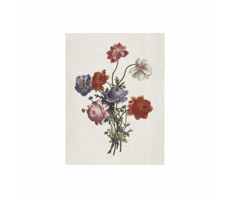 IXXI Décoration murale Bouquet de anémones papier L 120x160cm multicouleur