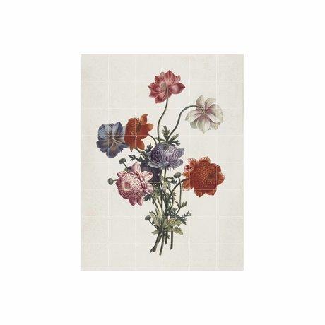 IXXI Wanddekoration Bouquet von Anemonen Mehrfarbenpapier L 120x160cm