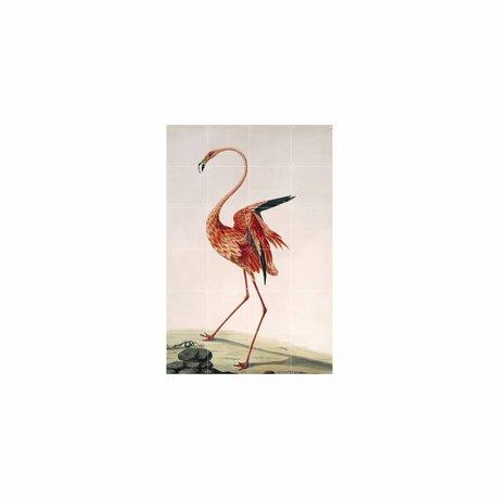 IXXI Wall Decoration Flamingo Stone Multicolour Paper S 80x120cm