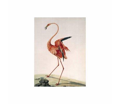 IXXI Wanddekoration Flamingo Stein buntes Papier L 120x160cm
