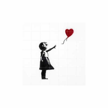 IXXI Wall Decoration Girl with Balloon Multicolour Paper L 140x140cm