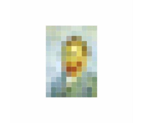 IXXI Wanddekoration Van Gogh Pixel buntes Papier S 100x140cm