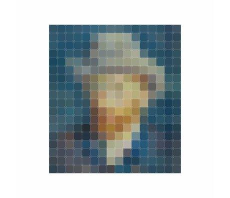 IXXI Wall decoration Van Gogh petrol pixel multicolour paper 160x180cm