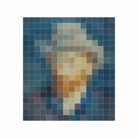 IXXI Wanddecoratie Van Gogh petrol pixel multicolour papier 160x180cm