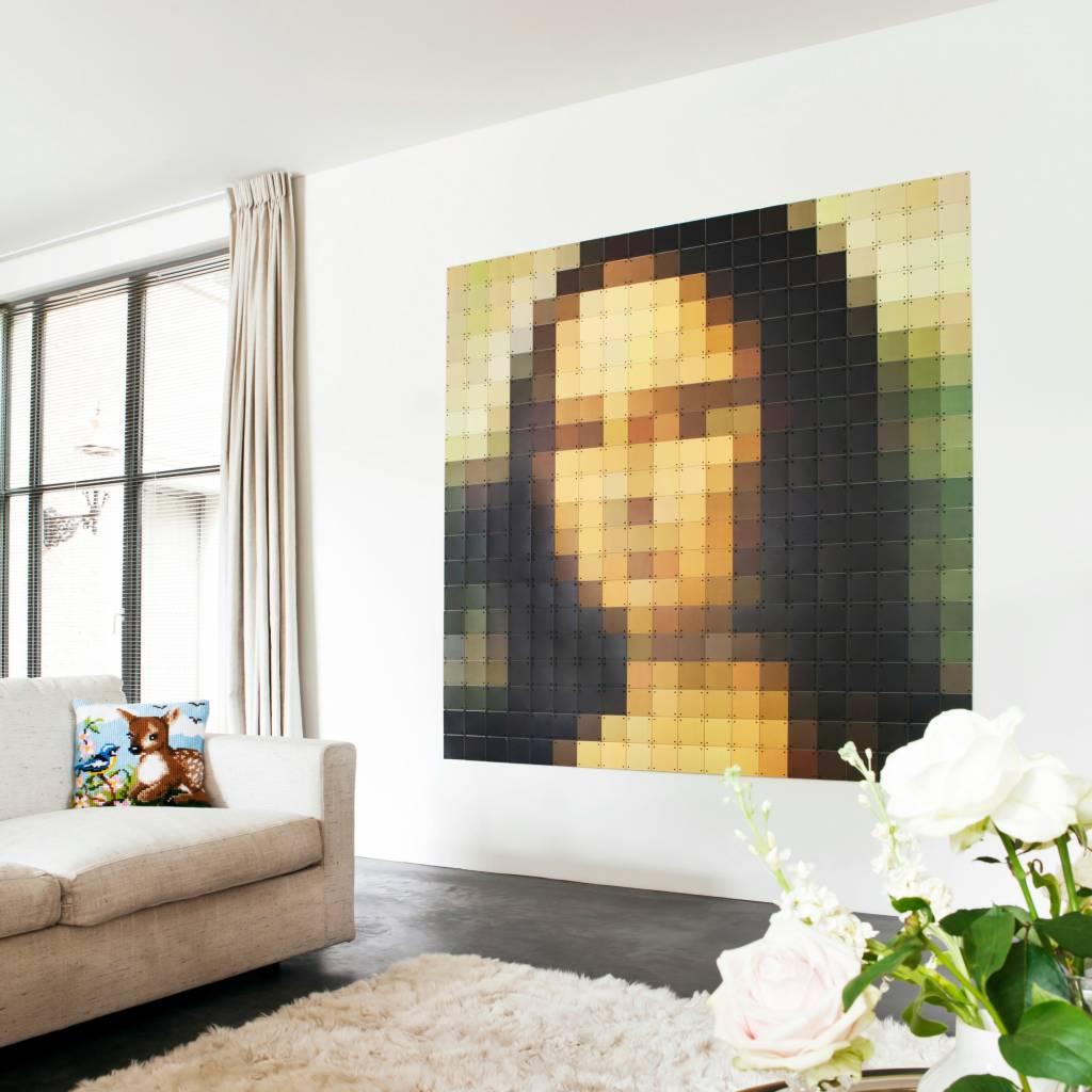 Ixxi d coration murale mona lisa pixel papier multicolore for Decoration murale papier