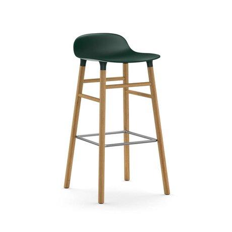 Normann Copenhagen Bilden grünem Kunststoff Stuhl Eiche 75cm